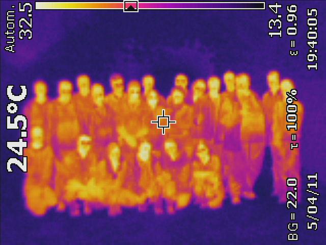 Gruppenfoto im Infrarotlicht