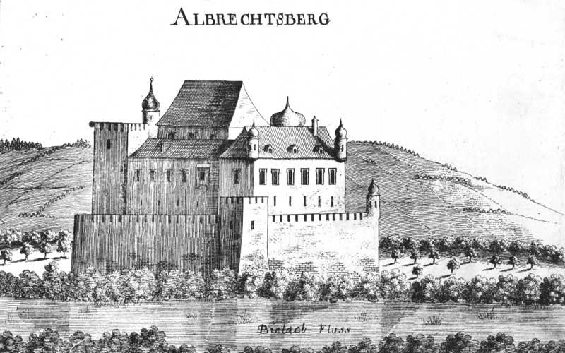 Schloss Albrechtsberg etwa im Jahr 1600